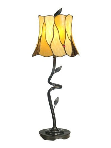 "Dale Tiffany TB11030 Twisted Leaf Buffet Lamp, 9.75"" x 9.75"" x 25.5"", Bronze - llightsdaddy - Dale Tiffany Lamps - Lamp Shades"