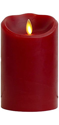 "Luminara Flameless Candle: Cinnamon Scented Moving Flame Candle with Timer (5"" Red) - llightsdaddy - Luminara - Flameless Candles"