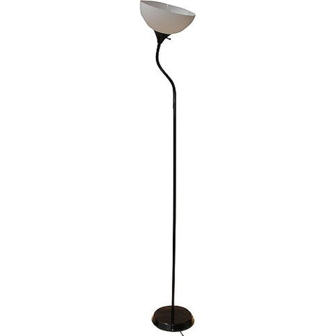 "Mainstays 71"" Jelly Gooseneck Floor Lamp, Black - llightsdaddy - Mainstay - Lamp Shades"