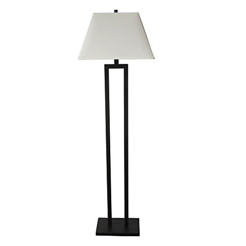 "Fangio Lighting W-12718 Contemporary Metal Floor Lamp, 60"", Bronze - llightsdaddy - Fangio Lighting - Lamp Shades"