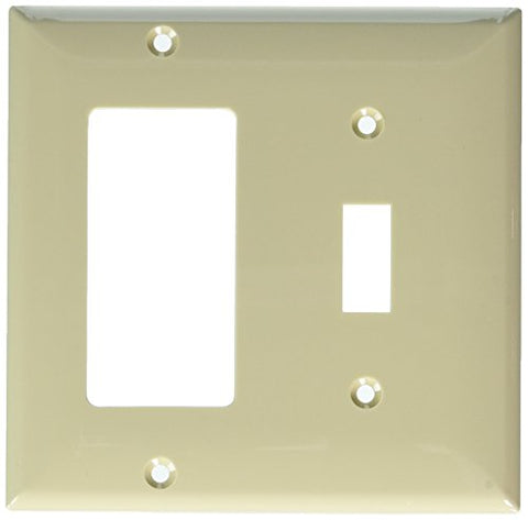 Morris 81240 Lexan Wall Plate, 2 Gang, 1 Toggle, 1 GFCI, Ivory - llightsdaddy - Morris - Wall Plates
