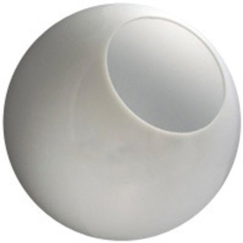 8 in. White Acrylic Globe - with 4 in. Neckless Opening - American PLAS-199500 - llightsdaddy - Hardware & Outdoor - Fixture Replacement Globes & Shades