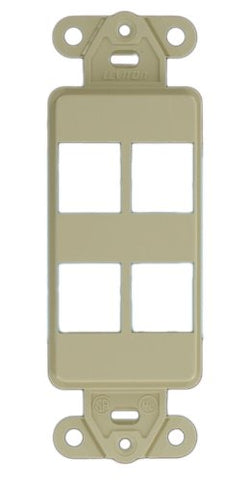 Leviton 41644-I QuickPort Decora Insert, 4-Port, Ivory - llightsdaddy - Leviton - Lamp Post Mounts