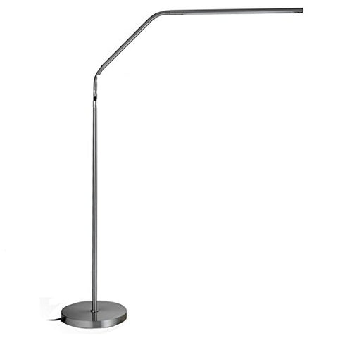 Daylight Slimline LED Floor Lamp, Brushed Chrome - llightsdaddy - Daylight Company LLC - Outdoor Floor Lamps