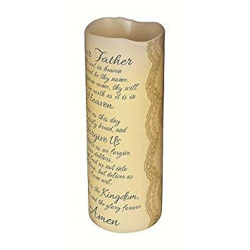 Carson Home Accents CHA10405 Lord's Prayer Scented Flameless Candle - llightsdaddy - Carson Home Accents - Flameless Candles