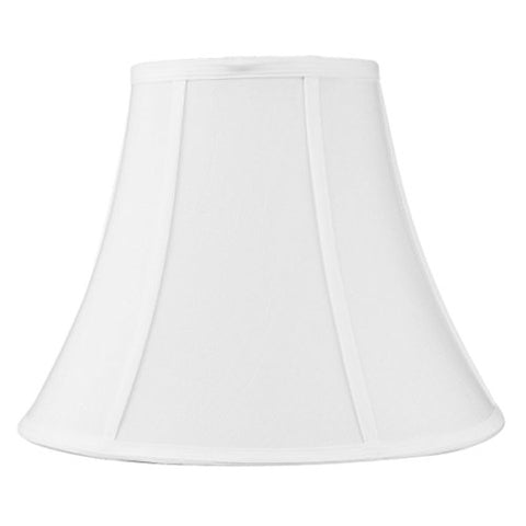 7x14x11 White Bell Shantung Lampshade with Brass Spider fitter By Home Concept - Perfect for table lamps and some desk lamps -Medium, White - llightsdaddy - HomeConcept - Table Lamp