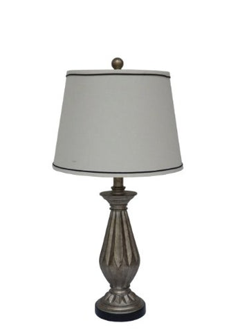 Fangio Lighting W-6169 Table Lamp, 26, Antique Silver