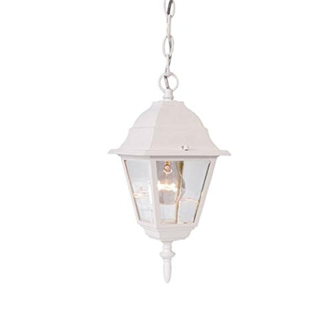 Acclaim 4006TW Builder's Choice Collection 1-Light Outdoor Hanging Lantern, Textured White