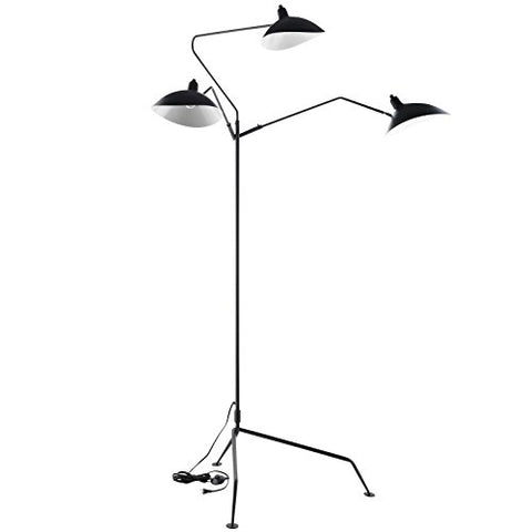 Modway View Stainless Steel Floor Lamp, Black - llightsdaddy - Modway - Lamps