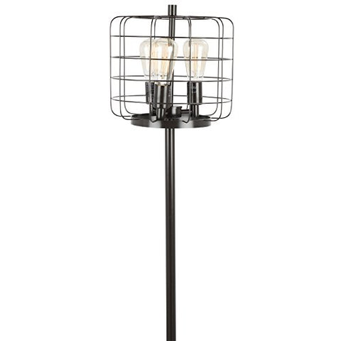 Indy Cage Industrial Floor Lamp with Antique Metal by LumiSource - llightsdaddy - LumiSource - Lamp Shades