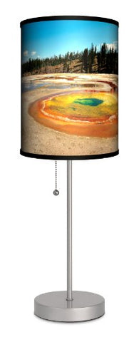 "Lamp-In-A-Box SPS-TRV-YELLO Travel Yellowstone Sport Silver Lamp, 7"" x 7"" x 20"""