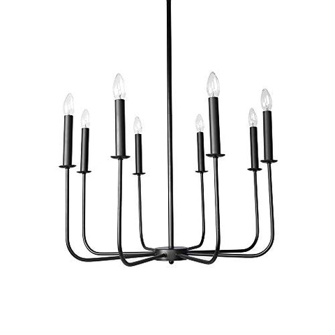Lingkai Chandelier Lighting 8-Light Metal Pendant Ceiling Light Modern Hanging Light Fixture for Living Room Dining Room Bedroom Hallway - llightsdaddy - Lingkai - Island Lights