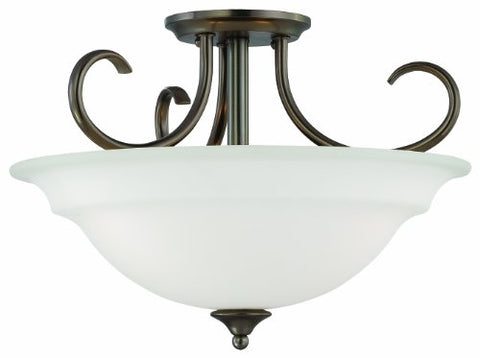 Thomas Lighting SL860715 Bella Collection 3 Light Convertible Semi-Flush Ceiling Light, Oiled Bronze