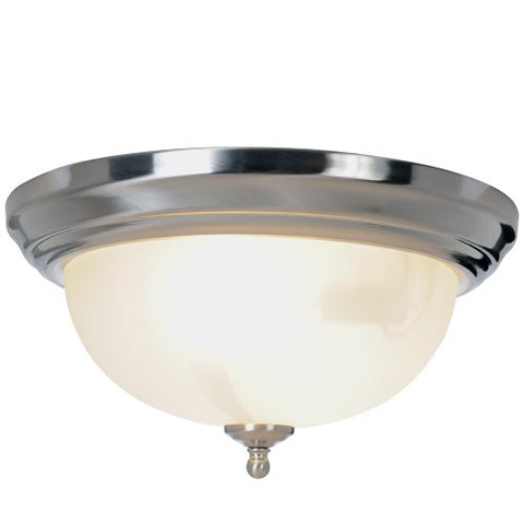 Monument 617263 Sonoma Flush Mount Ceiling Fixture, Brushed Nickel, 13-1/4 In.