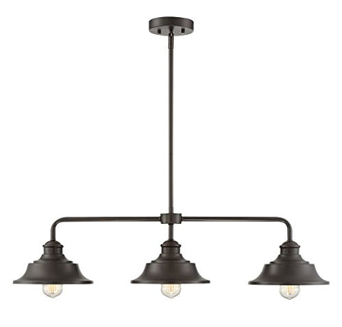 Trade Winds Lighting TW10049ORB 3-Light Vintage Industrial Retro Kitchen Island Counter Pendant with Metal Shades, 100 Watts, in Oil Rubbed Bronze - llightsdaddy - Trade Winds Lighting - Island Lights