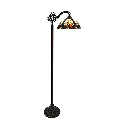 Chloe CH18780VI13-RF1 Reading Floor Lamp, Multi-Colored
