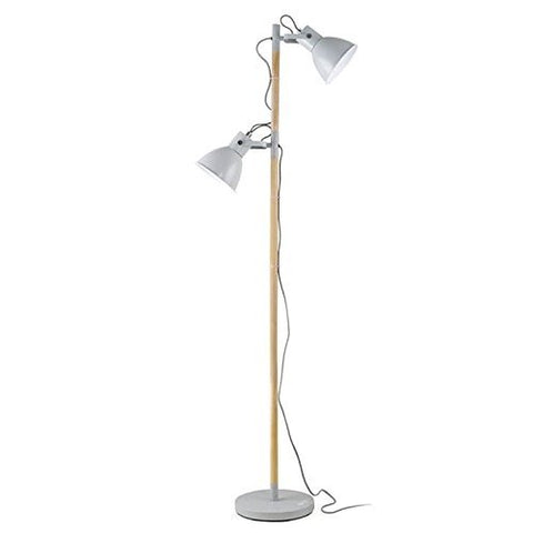 OttLite L1A921G9-SHPR Avery Floor Lamp, Grey - llightsdaddy - OttLite - Lamp Shades