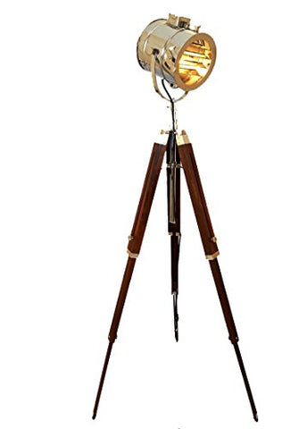Marine Signal Tripod Floor Lamp - Hand Made with Brilliant Chrome Finish - llightsdaddy - AVION INNOVATIVE PRODUCTS - Lamps