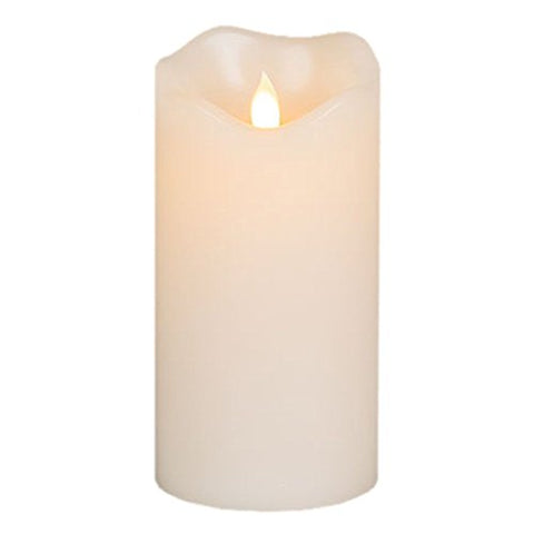 "Flameless Battery Candles With Remote Timer Set 4"" 5"" 6"" Flickering Dancing Flame White Led Pillar Candles by Letetop (Ivory) - llightsdaddy - letetop flameless battery candles - Flameless Candles"