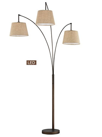 Artiva USA LED602109FBZ Luce LED Arched Floor Lamp, 84 inches, Antique Bronze - llightsdaddy - Artiva USA - Lamp Shades