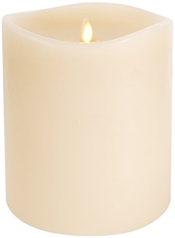 "Darice Large Luminara Flameless Candle: 360┬░ Top, Unscented Moving Flame Candle with Timer (6"" Ivory) - llightsdaddy - Luminara - Flameless Candles"