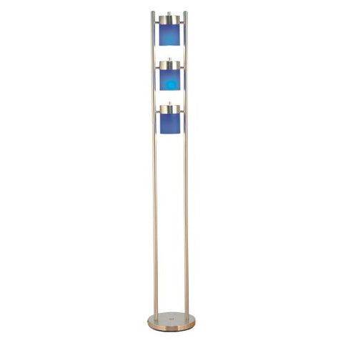 ORE International 3031FB 3-Light Adjustable Floor Lamp, Blue - llightsdaddy - ORE - Lamp Shades