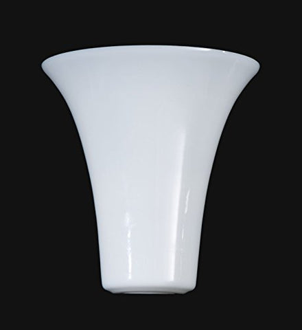 B&P Lamp Opal Glass Tulip Shaped Torchiere Shade - llightsdaddy - B&P Lamp - Fixture Replacement Globes & Shades