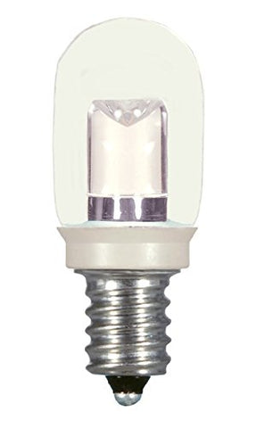 Satco S9177 Candelabra Bulb in Light Finish, 2.06 inches, Base, Clear
