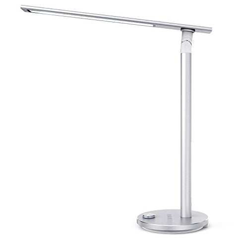 Taotronics Tt-Dl037S Eye-Caring Led Desk Lamp, Aluminum Alloy Table Lamp With 3 Color Modes, High Cri 92, Double-Light, Night Light, Philips Enabled Licensing Program, Silver - llightsdaddy - Taotronics - Table Lamp