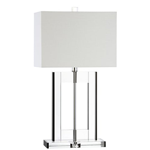 "JONATHAN Y JYL2015A Collection Parish 26"" Crystal Table Lamp, Clear/Black"