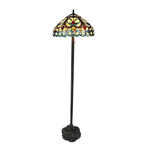 "Chloe CH18032AV18-FL2 Hayden Tiffany-Style Floor Lamp with 18"" Shade"