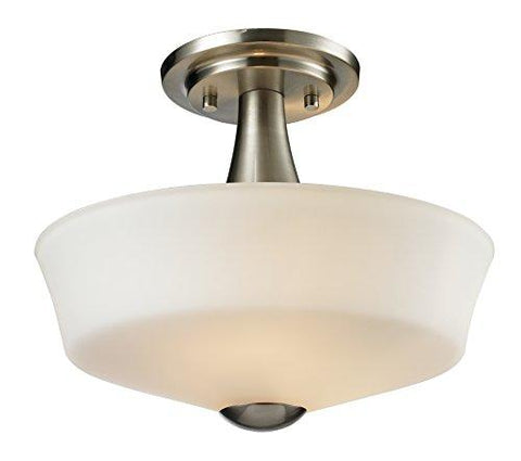 Z-Lite 410SF2 2 Light Semi Flush Mount, Brushed Nickel - llightsdaddy - Z-Lite - Under-Cabinet Lights