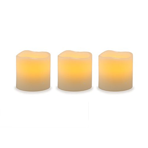 Darice Battery Operated LED Wax Pillar Candle Set, 3 Piece - llightsdaddy - Darice - Flameless Candles