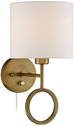 Amidon Warm Brass Drop Ring Plug-In Wall Lamp - llightsdaddy - 360 Lighting - Lights