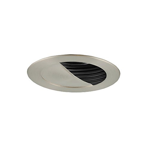 "Jesco Lighting TM304BKST 3.63"" Adjustable Scoop Wall Low Voltage Trim, Black/Satin Chrome Finish"
