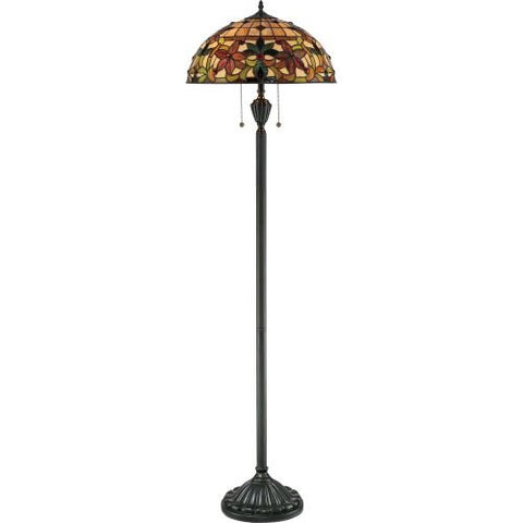 "Quoizel TF878F 2-Light Kami Floor Lamp, 18"" x 18"" x 62"", Vintage Bronze  Quoizel Lamp Shades llightsdaddy.myshopify.com lightsdaddy"