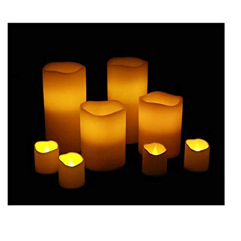 8 LED Candles with Remote - LED Flame Less Battery Operated Flickering Candles with Remote (8 Pack) - llightsdaddy - Ashland - Flameless Candles