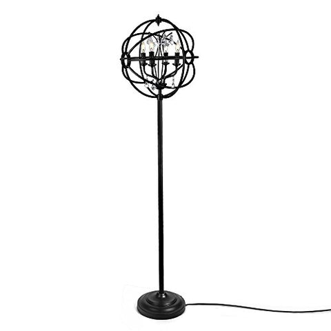 LALUZ 4-Light Orb Floor Lamps Glass Reading Lamp for Living Room Bedroom - llightsdaddy - LALUZ - Lamp Shades
