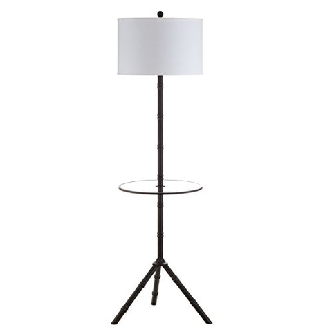 "JONATHAN Y JYL2012A Hall 62"" Metal End Table Floor Lamp, Oil Rubbed Bronze - llightsdaddy - JONATHAN Y - Outdoor Floor Lamps"