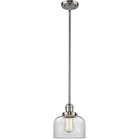 Innovations 201S-SN-G72-LED 1 Light Vintage Dimmable LED Mini Pendant, Brushed Satin Nickel