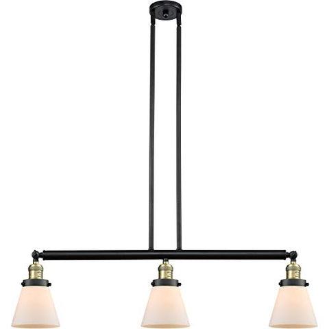 "Island Lighting 3 Light Fixtures with Black Antique Brass Finish Cast Brass Glass Material Medium 39"" 300 Watts - llightsdaddy - World of LifeStyle - Island Lights"