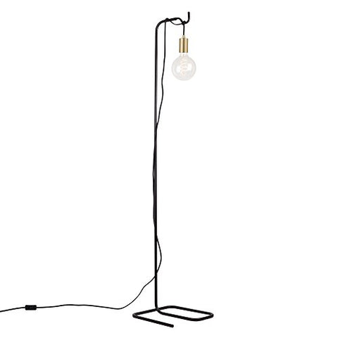 Globe Electric 69973 Designer Series Floor Lamp, Brass - llightsdaddy - Globe Electric - Lamp Shades