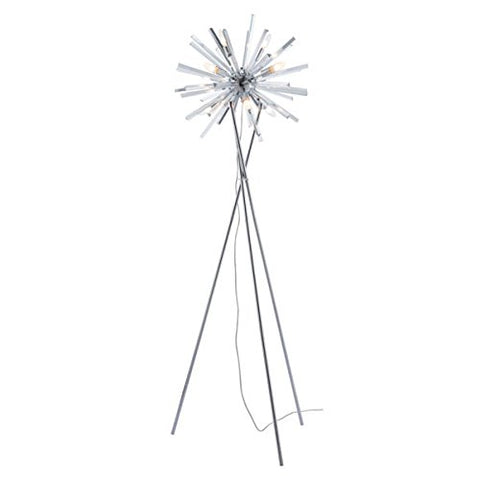 Zuo 56058 Savoy Floor Lamp, Chrome - llightsdaddy - Zuo - Lamps