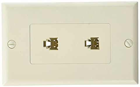 Morris 80173 Decorative Dual RJ11 4 Conductor Phone Jack Wall Plate, 2 Piece, Almond - llightsdaddy - Morris - Wall Plates