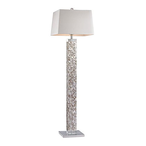 Dimond D2896 Floor Lamp, 1-Light 100 Watts, Mother of Pearl Shell