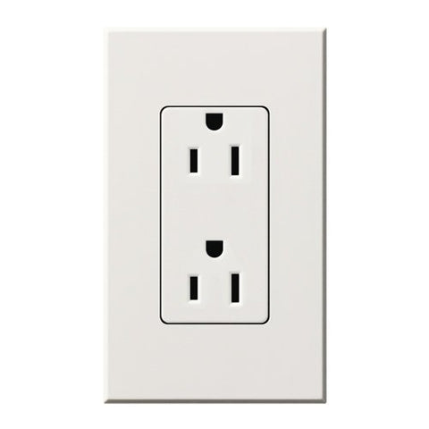 Lutron Deep Back Cover Nova T Receptacle White (NTR-15-WH) - llightsdaddy - Lutron - Wall Plates