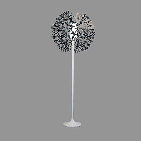 ZWW electronic Nordic Creative Living Room Bedroom Coral Vertical Floor Lamp, Acrylic Glass Lamp Shade Restaurant Study Floor Lamp, Sturdy Metal Base Art Gallery Cafe Floor Lamp, E27, Black, White - llightsdaddy - ZWW electronic - Lamp Shades