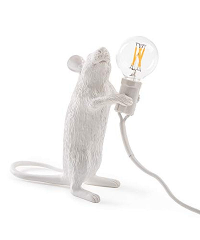Seletti Mouse Lamp - Standing White - llightsdaddy - Seletti - Lamp Shades