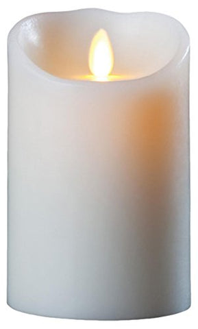 Darice LM357B Luminara Realistic Artificial Flame Pillar Candle with Timer, 7-Inch, Ivory - llightsdaddy - GKI/Bethlehem Lighting - Flameless Candles