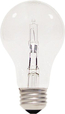 Satco S2403 53 Watt (75 Watt) 1050 Lumens A19 Halogen Warm White 2900K Clear Light Bulb, 2-Pack - llightsdaddy - Satco - Halogen Bulbs